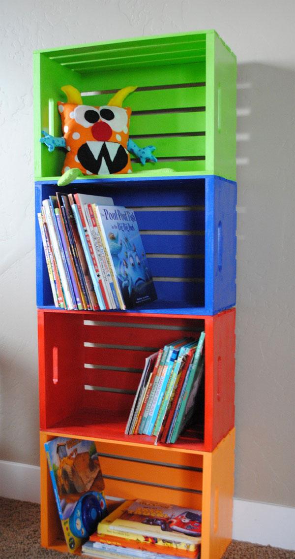 C mo hacer una estanter a infantil barata y original - Hacer estanteria casera ...