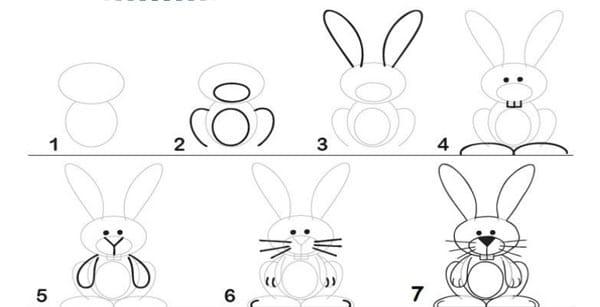Cómo dibujar animales paso a paso. Guías de dibujo