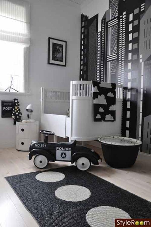 Decorar Habitacion Varones ~ Mirad qu? bonita y elegante queda esta nursery en blanco y negro