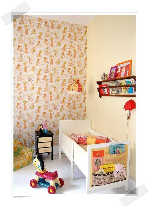 10 ideas para decorar la habitaci n del beb pequeocio for Papel para empapelar habitaciones