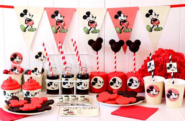 Cumpleaños de Mickey, ¡kit de fiesta imprimible gratuito!