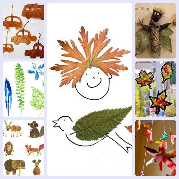 7 manualidades con hojas de oto o - Empresas de manualidades para trabajar en casa ...