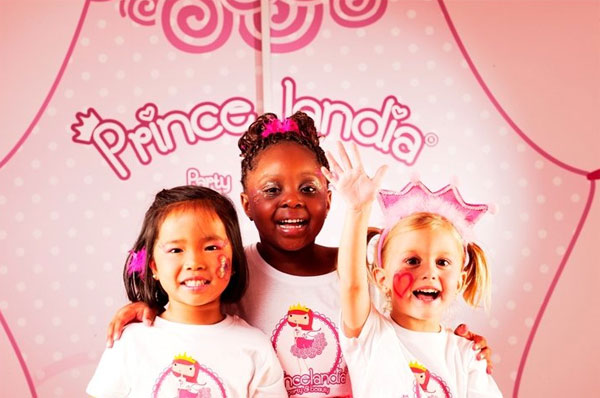 Princelandia, un cumpleaños infantil de cuento