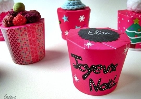 Cajitas fáciles hechas con vasos de papel 1
