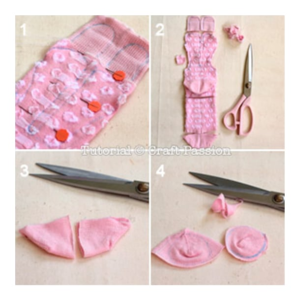 Manualidad infantil f cil un conejo con un calcet n - Como hacer talon de calcetines de lana ...