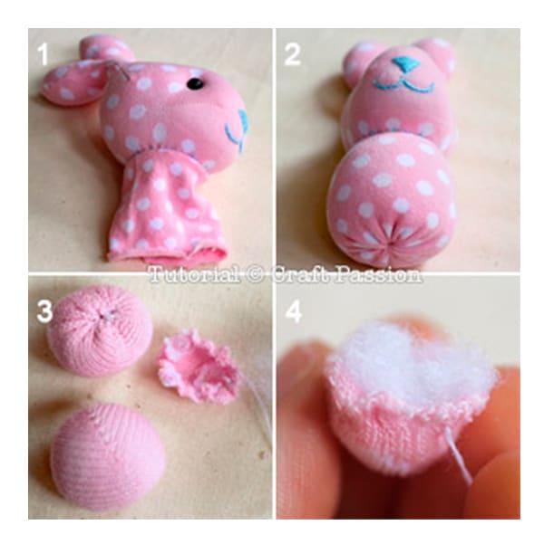 Как сшить игрушку из носка зайка