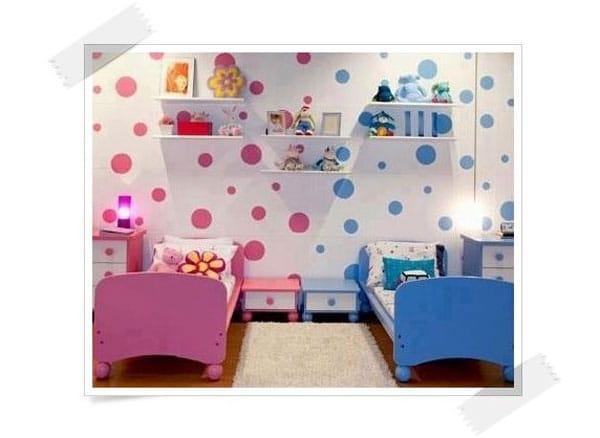 Cómo decorar habitaciones compartidas por un niño y una niña