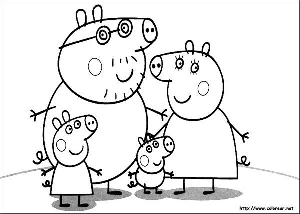 Dibujos para colorear de peppa pig pequeocio for Peppa pig drawing templates