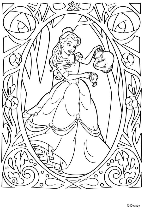 dibujo de Bella para colorear