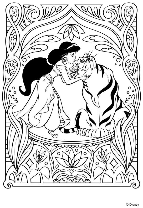 Dibujo de la princesa Jasmine de Disney