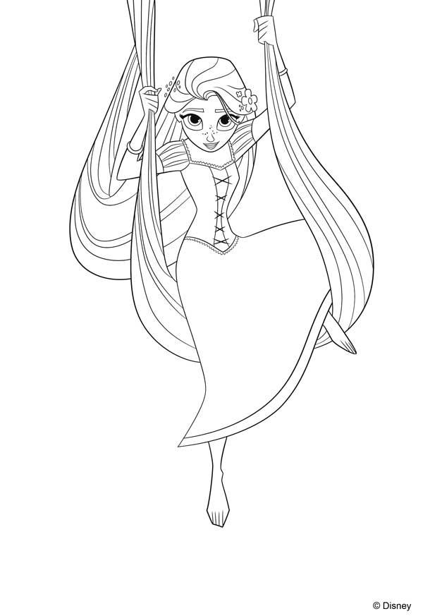 dibujos de la princesa Rapunzel para colorear