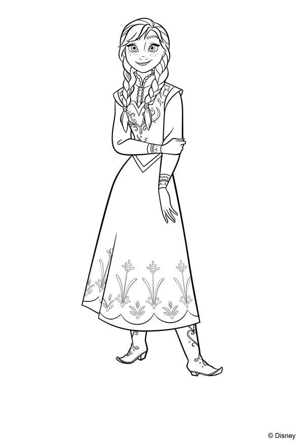 Dibujos princesa Anna de Frozen