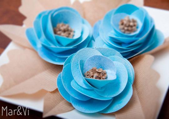 Románticas flores de papel 1