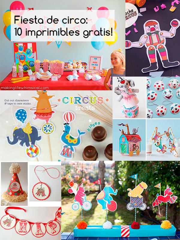 10 imprimibles gratis para una fiesta de circo pequeocio - Juegos gratis de decoracion ...