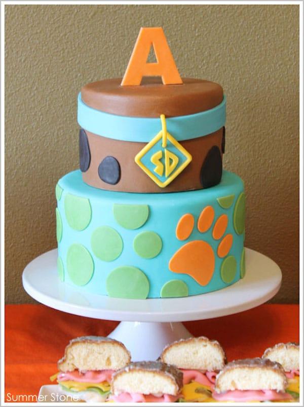 tarta cumpleaños de Scooby Doo