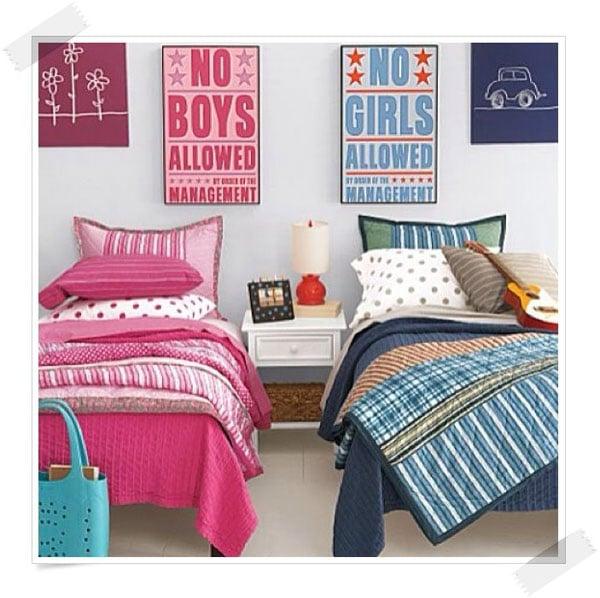 C mo decorar habitaciones compartidas por un ni o y una ni a for Decoracion habitacion compartida nino nina