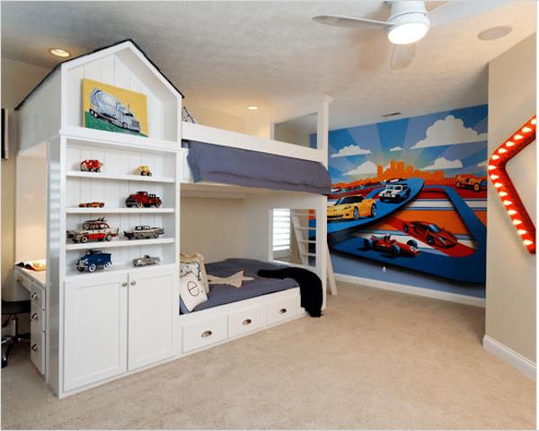 8 habitaciones infantiles para fan ticos de los coches - Habitaciones originales para ninos ...
