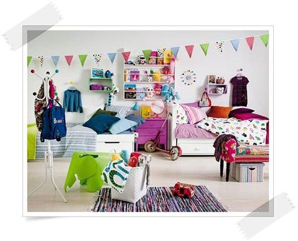 C mo decorar habitaciones compartidas por un ni o y una ni a - Habitaciones infantiles ninos 4 anos ...
