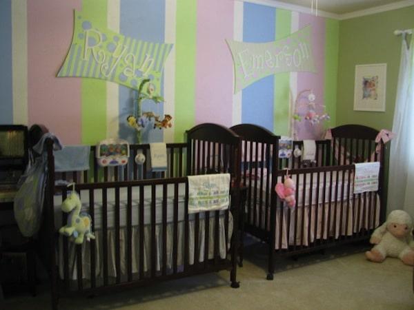 C mo decorar la habitaci n de beb s gemelos pequeocio - Habitaciones para gemelos ...