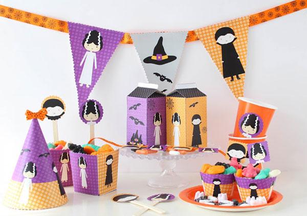 Decoraci n de una fiesta de halloween imprimibles - Fiesta halloween infantil ...