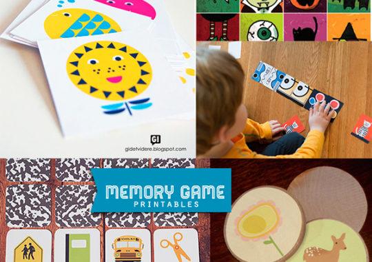 5 juegos de memoria para imprimir gratis 1