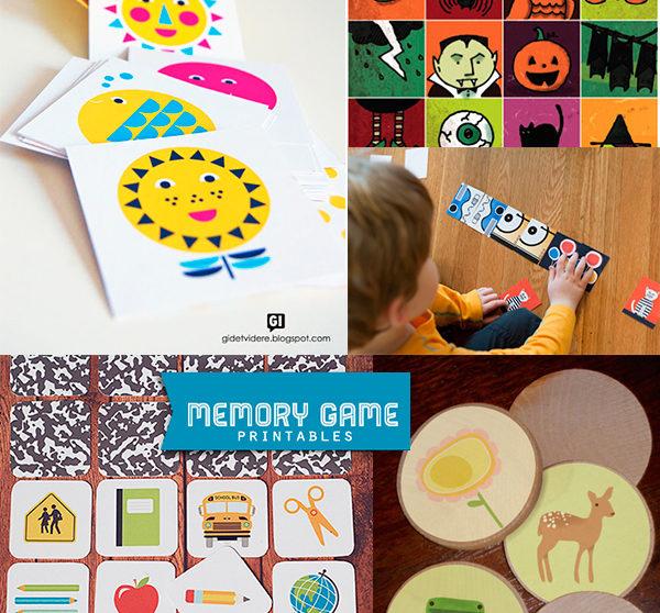 5 Juegos De Memoria Para Imprimir Gratis Pequeocio Com