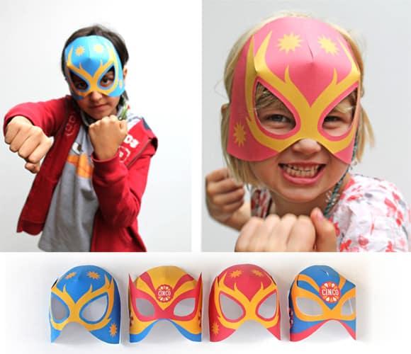 mascara lucha libre papel