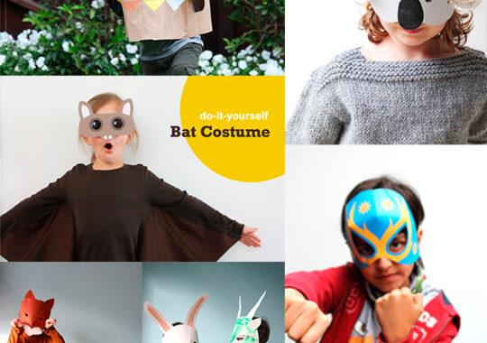 5 máscaras de cartón y papel para Halloween 3