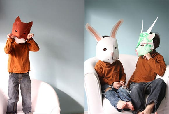 mascaras papel pintado animales