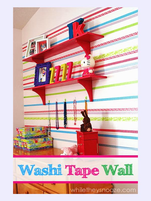 Decoracion Infantil Washi Tape ~ Una pared divertida decorada con Washi Tape