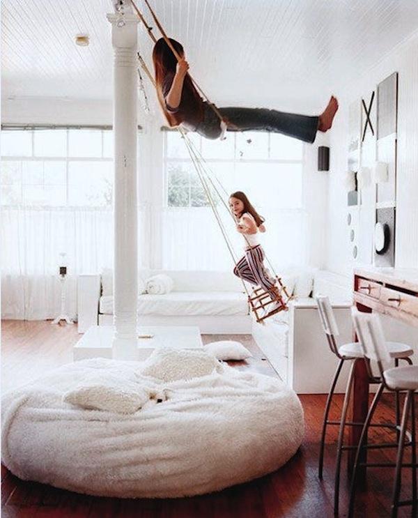 Ideas de decoraci n infantil columpios en la habitaci n for Ideas para la casa