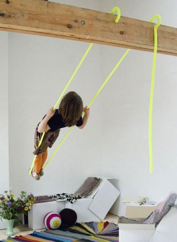 12 ideas para tener un parque infantil dentro casa