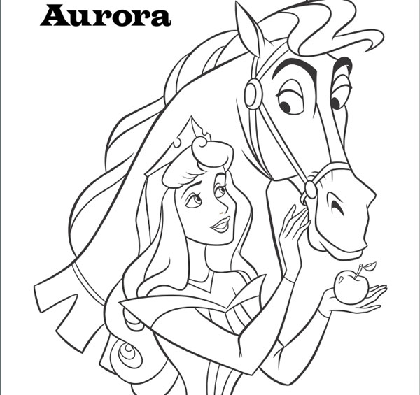 Dibujos para colorear de las princesas Disney - Pequeocio