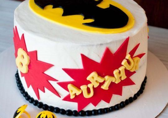 tarta fácil de Batman