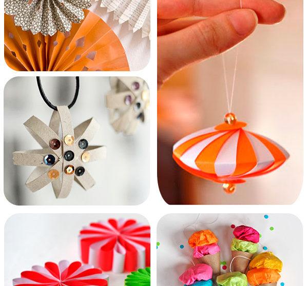 5 adornos caseros de papel para el rbol de navidad - Adornos de navidad con papel ...