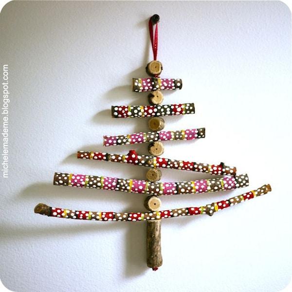 adornos de navidad con ramitas