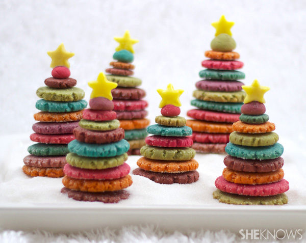 arbol de navidad de galletas