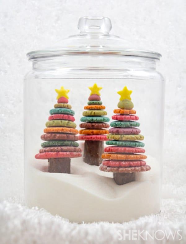 Recetas de Navidad: un árbol de galletas multicolor | Pequeocio.com