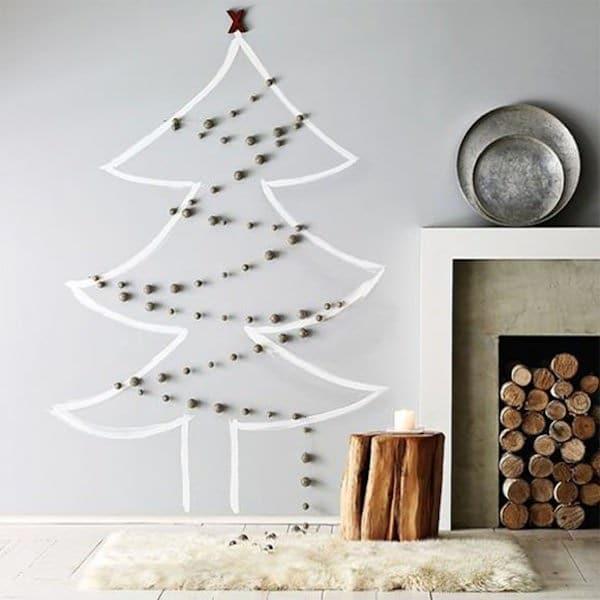 6 ideas para hacer arboles de navidad de pared
