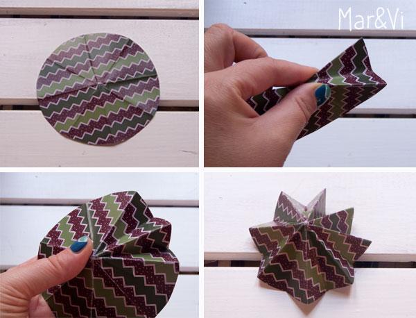 cómo hacer un árbol de Navidad de papel