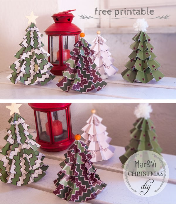 Rboles de navidad de papel para imprimir gratis pequeocio - Adornos faciles de navidad ...
