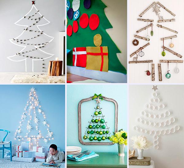 Dibujos De Arboles De Navidad Pintados.6 Arboles De Navidad Originales Para La Pared Pequeocio Com