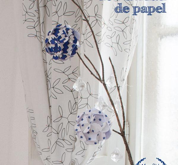 Bolas de Navidad caseras de papel | Pequeocio.com