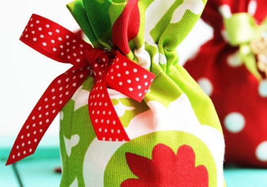 estuche de tela para regalo