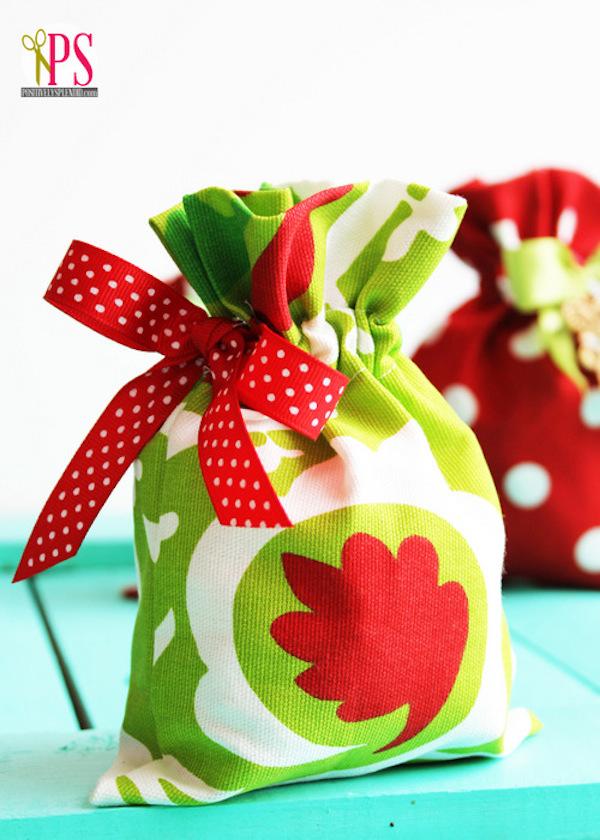 manualidades con tela envolver regalos de navidad
