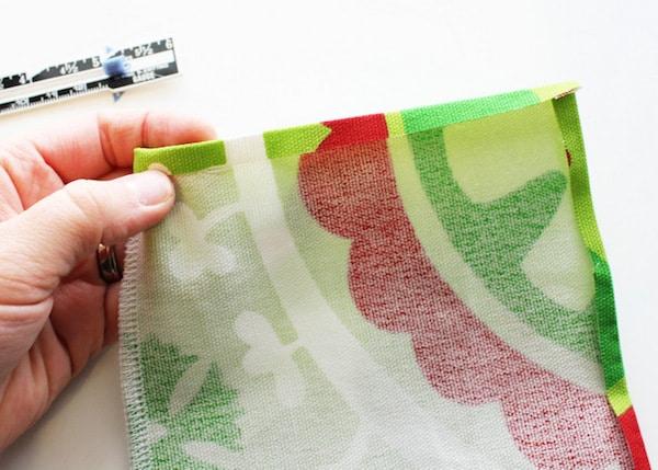 instrucciones para hacer una bolsa de tela para regalo