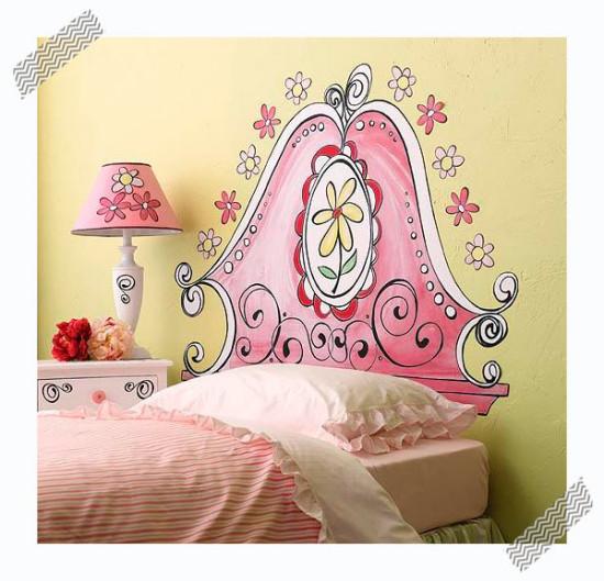 Ideas de decoraci n infantil cabeceros de cama pintados - Cabeceros pintados ...