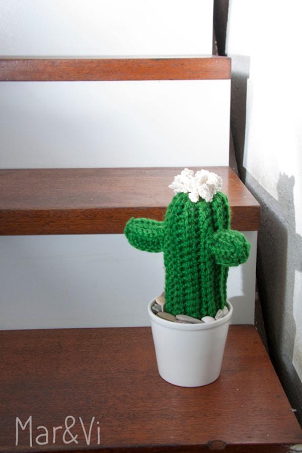 paso a paso para hacer una cactus amigurumi
