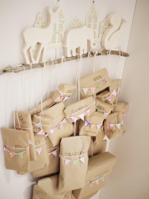5 calendarios de adviento f ciles y originales pequeocio - Paquetes originales para regalos ...