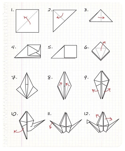 How to Make Origami Crane Step by Step